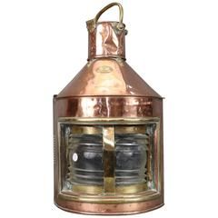 Early Copper and Brass Starboard Lantern