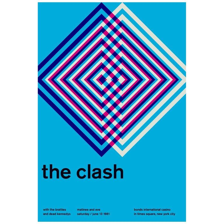 The Clash, Limited Edition Graphic Design Print