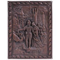 Late Renaissance Continental Cast Lead Relief Plaque