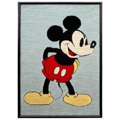 Framed Mickey Mouse Disney Needlepoint Artwork