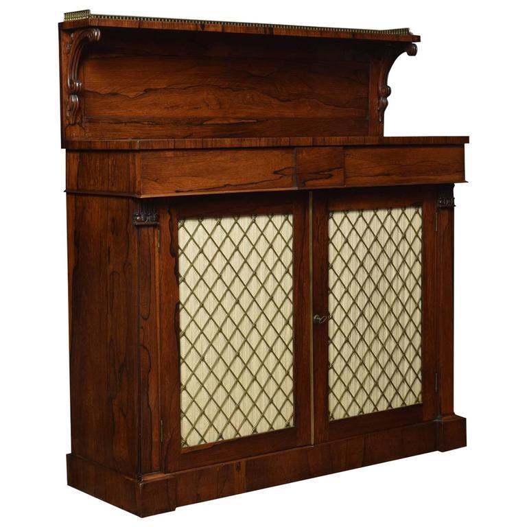Regency Rosewood Two-Door Chiffonier 1