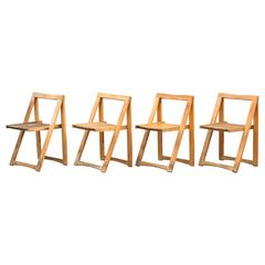 Set of Four Danish Mid-Century Folding Chairs