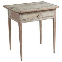 19th Century Swedish Side Table Scraped to Original Paint