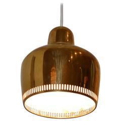Early Brass Golden Bell Pendant by Alvar Aalto