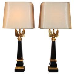 Pair of Table Lamps by Maison Charles & Fils