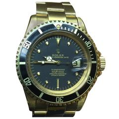 Very Rare Unpolished 18-Karat Rolex Submariner All Original from 1969