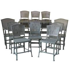 "12-Piece ""Rothschild"" Iron Seating Set from Arras, France, circa 1920s"