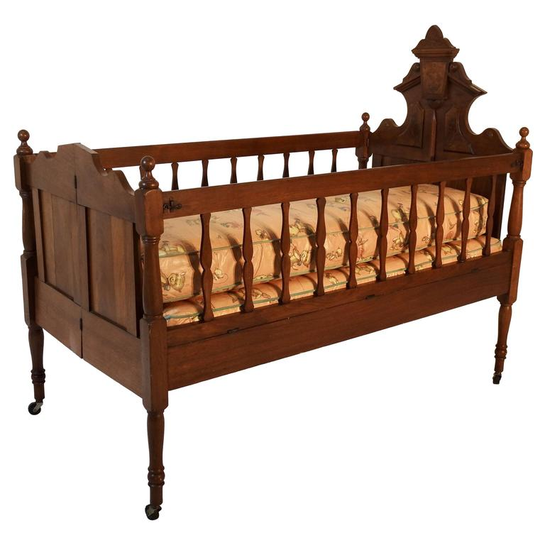 53d6621443ad 19th Century Victorian Baby Bed For Sale at 1stdibs