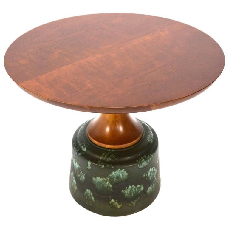 Ceramic pedestal side table by john van koert at 1stdibs - Ceramic pedestal table base ...