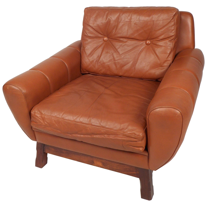 Mid-Century Modern Danish Leather Lounge Chair