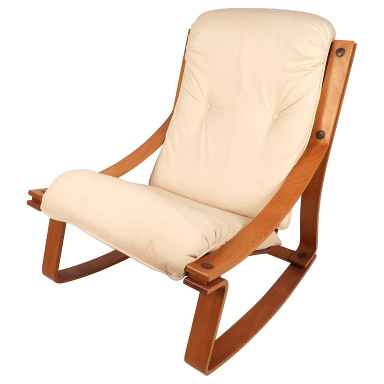 Mid-Century Modern Norwegian Rocking Chair by Westnofa For Sale ...