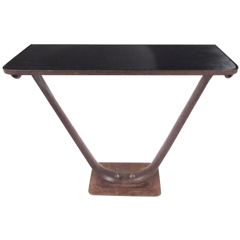 Stylish Vintage Industrial Console Table