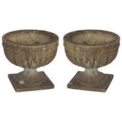 Pair of English Antique Stone Urns