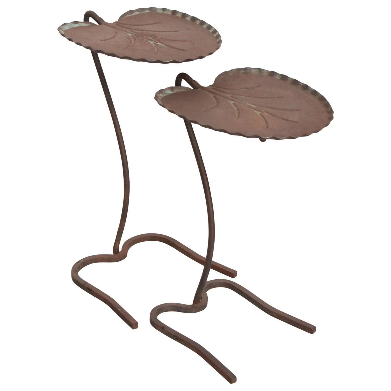 Salterini Wrought Iron Lily Pad Nesting Tables at 1stdibs