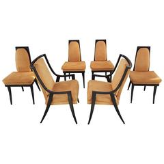 Set of Six Sculptural Dining Chairs by Harvey Probber