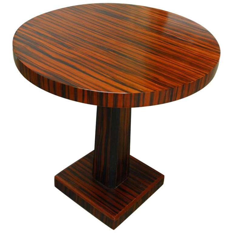 French art deco macassar wine table at 1stdibs - Deco table campagne ...