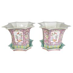 Pair of Chinese Export Jardinières or Cachepot