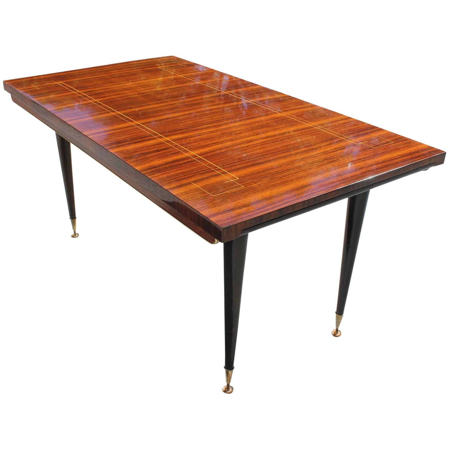 French art deco art moderne macassar ebony dining table circa 1940 for sale at 1stdibs - Art deco dining room table ...