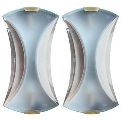 Max Ingrand for Fontana Arte Wall Sconces, Pair