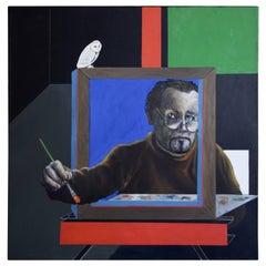 George Dergalis Self Portrait with Oil, 2008