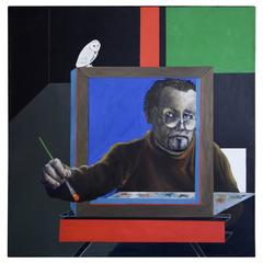 George Dergalis Self Portrait with Oil, 2008