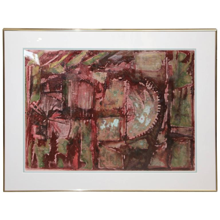 Mixed-Media Abstract by George Dergalis from 1994