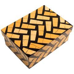 R & Y Augousti Bamboo Inlay Box