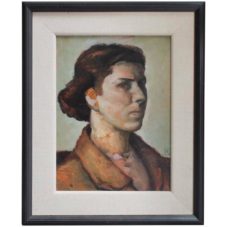 Painting of a Woman Signed P.S. Andrew