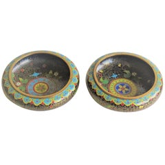 Pair of Chinese Cloisonné Bowls with Ruji head borders, Qing Ca 1840