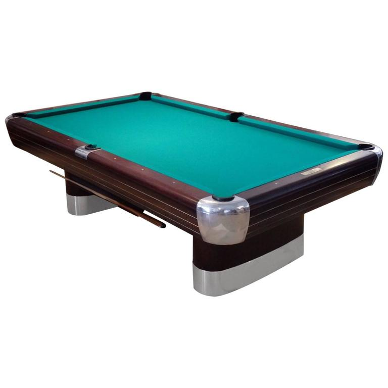 Donald Deskey Brunswick Anniversary Moderne Pool Table For Sale