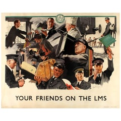 "Original London Midland and Scottish Railway Poster ""Your Friends On The LMS"""