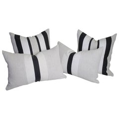 Custom-Made Pillows from Antique Natural Linens