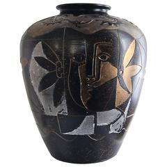 Large Chinese Decorative Vase, circa 1990s