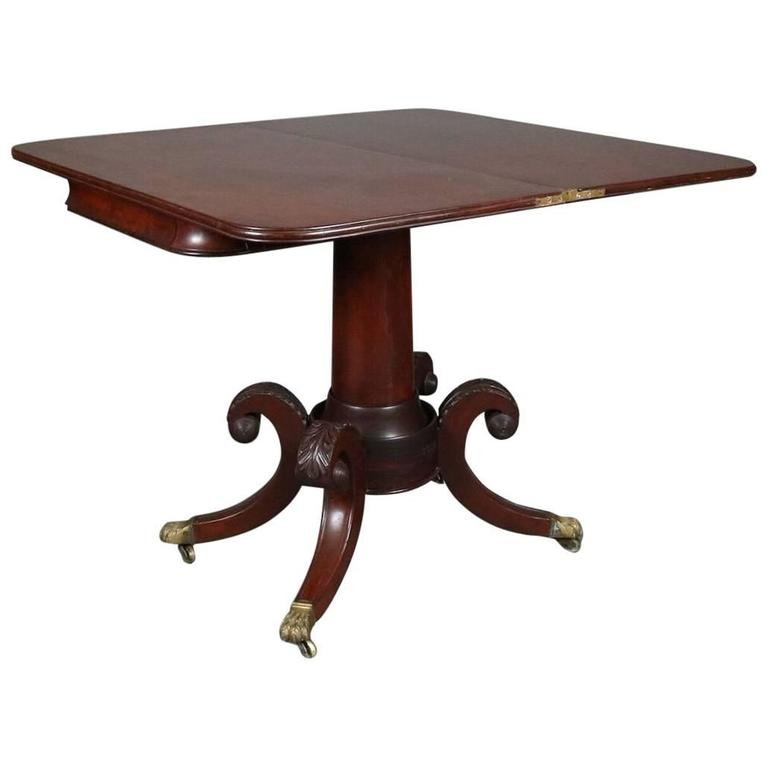 Gany Federal Duncan Phyfe School Game Table With Bronze Mounts Circa 1820 For