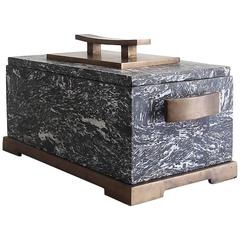 Marble and Bronze Decorative Box by Maitland Smith
