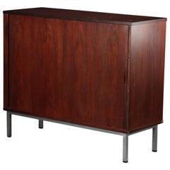 Mid-Century Hardwood Cabinet