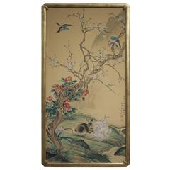 Chinese Hand-Painted Silk Panel