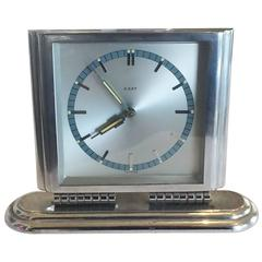 Art Deco French Chrome Desk Clock