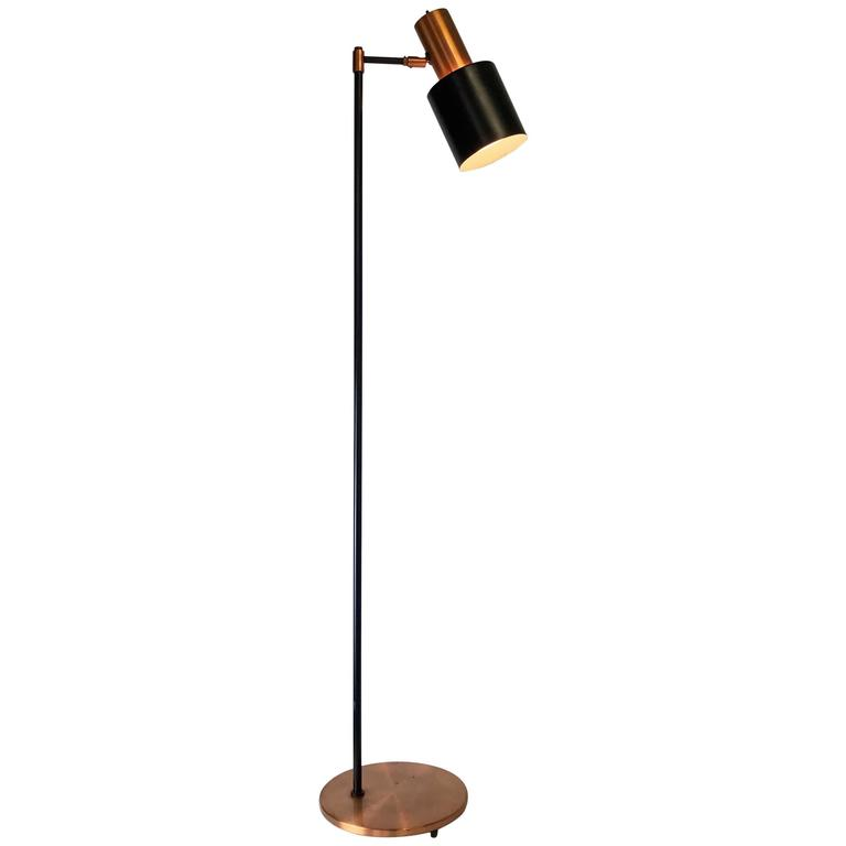 Copper Floor Lamp Adelaide Copper Floor Lamp By Jo Hammerborg For Fog And Morup At