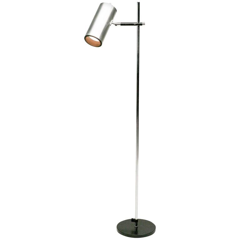 maria pergay stainless steel floor lamp for sale at 1stdibs. Black Bedroom Furniture Sets. Home Design Ideas