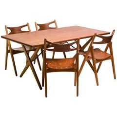 Matching 1950s Dining Set by Hans Wegner