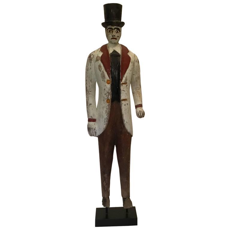 The Show Man, An Extinct Type, Wooden Carnival Barker