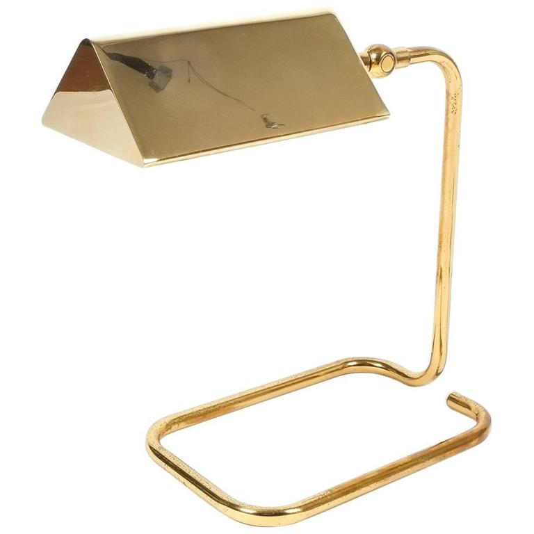 Gorgeous Brass Table Lamp by Koch Lowy, Germany 1