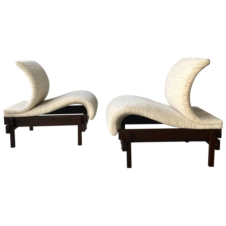 Pair of Sculptural Mid-Century Lounge Chairs, Brazil, 1950s