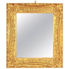 Early 18th Century Style Giltwood Carved Mirror