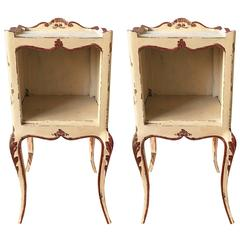 French Elegant Solid Wood Nightstands Louis XV