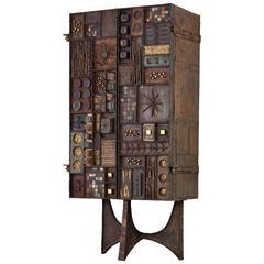 Rare Paul Evans Studio Forge Cabinet, 1969