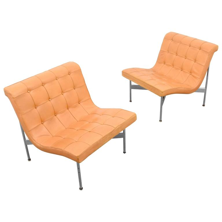 "William Katavolos, Ross Littell & Douglas Kelley ""New York"" Lounge Chairs"