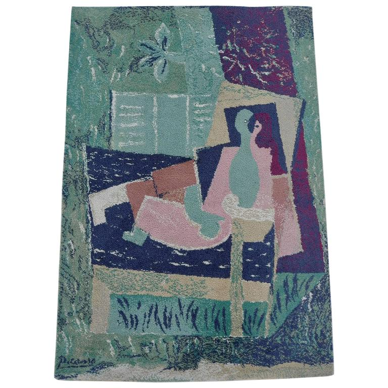 Pablo Picasso After Sleeping Women With A Bird Art Rug By Ege