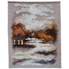 Large 1970s Danish Handwoven Tapestry